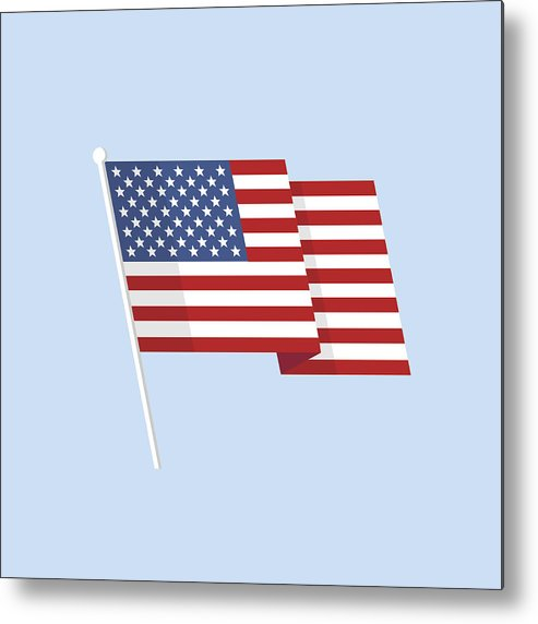 american flag vector metal