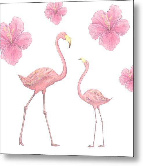 pink flamingo character digital