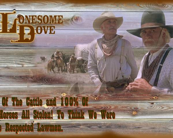 lonesome dove once we were texas rangers poster