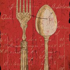 Vintage Posters For Kitchen Glass Table And Chairs Utensils In Red Poster By Grace Pullen Dining Featuring The Painting
