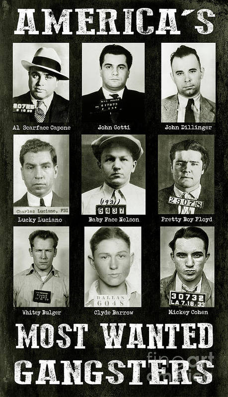 Al Capone Iphone Wallpaper Americas Most Wanted Gangsters Poster By Jon Neidert