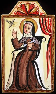 Santa Teresa de Avila - St. Teresa of Avila - AOTEA Poster by Br Arturo  Olivas OFS