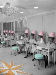 vintage hair salon poster andrew