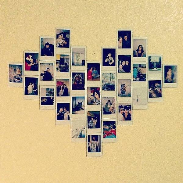 made a heart collage