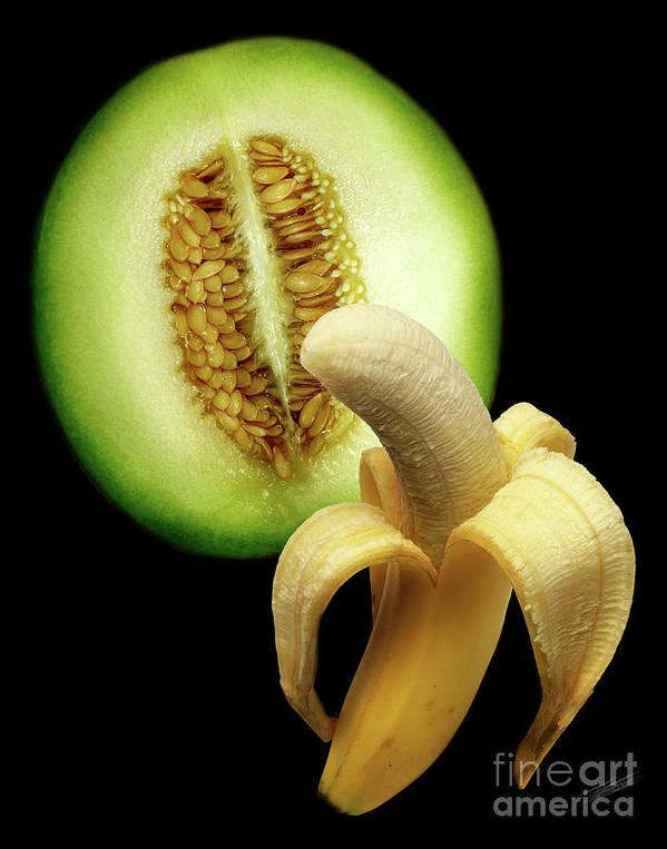banana and honeydew poster