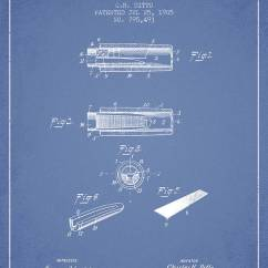 Duck Wing Diagram Lcd Wiring Call Online Instrument Patent From 1905 Light Blue Poster By Aged Pixel