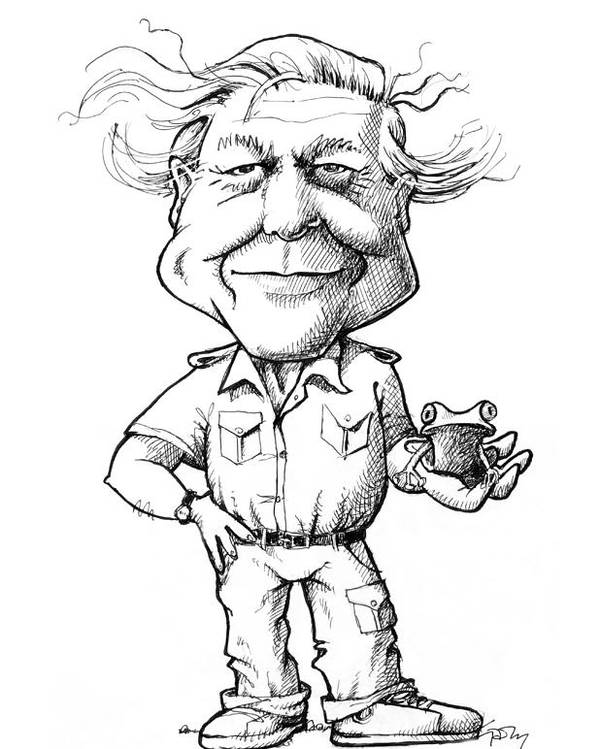 David Attenborough, British Naturalist Poster by Gary Brown