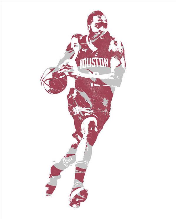 james harden houston rockets pixel art 60 poster