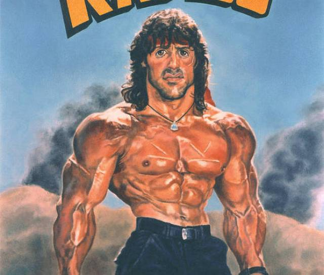 Rambo Poster Featuring The Painting Rambo Caricature By Bill Pruitt