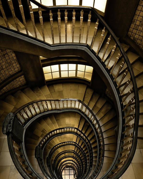Spiral Staircase Meßberghof Poster By Cinoby | Spiral Staircase Near Me | Steel | Local Handyman | Handrail | Curved Staircase | Staircase Design