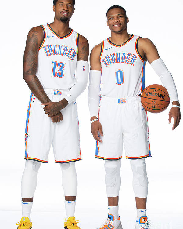 paul george and russell westbrook poster
