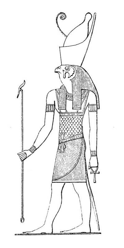 Egyptian God Horus Art Print by Nastasic