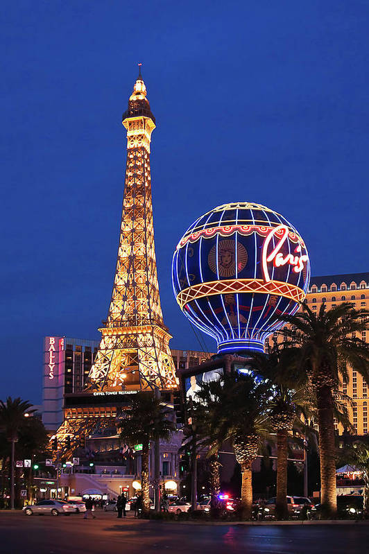 Paris Art Print featuring the photograph Paris, Las Vegas by Tatiana Travelways