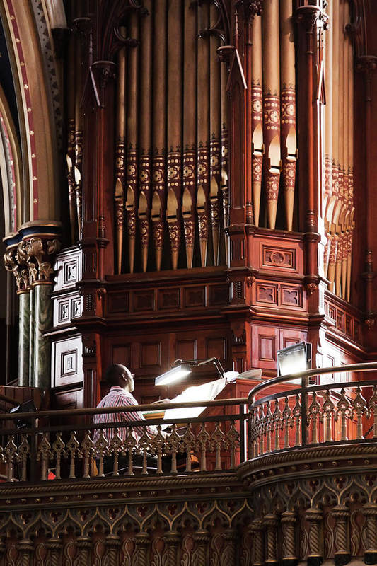 Wooden pipe organ at St.Mary's basilica, Ottawa, Canada
