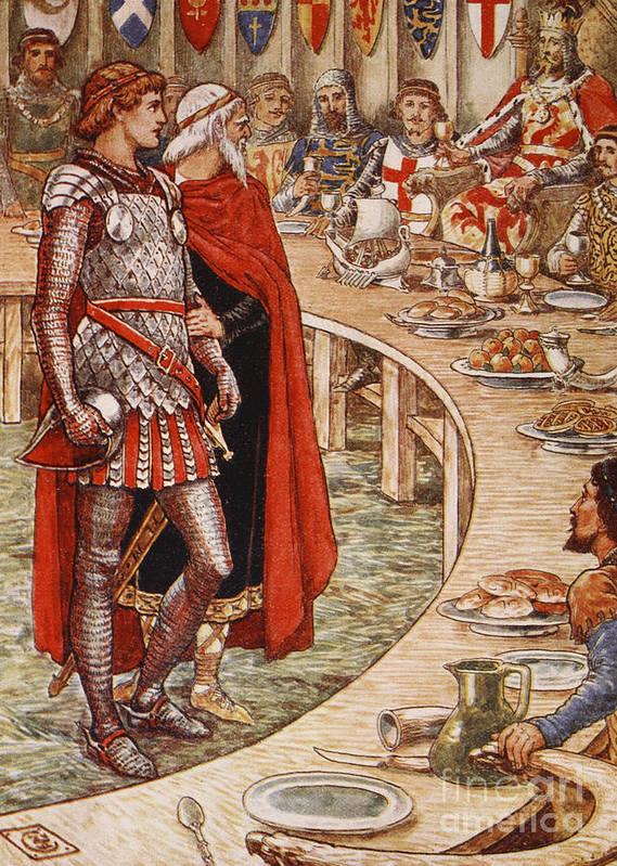 Rey Arturo y los caballeros de la mesa redonda.