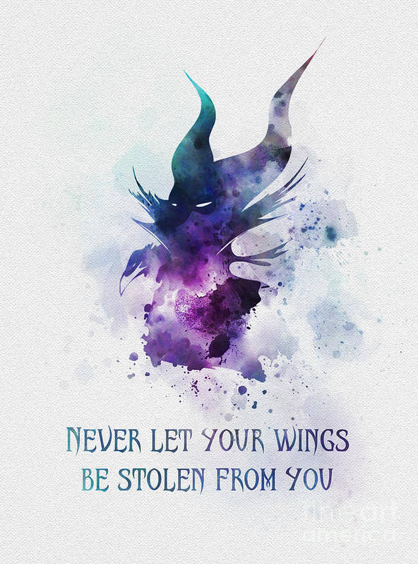 Beauty And The Beast Quotes Wallpaper Never Let Your Wings Be Stolen From You Art Print By My
