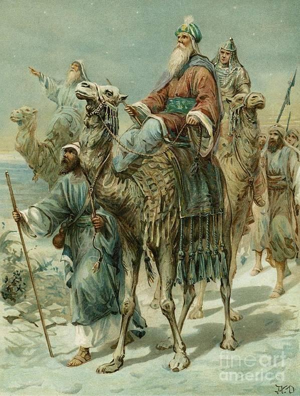 The Wise Men Seeking Jesus Art Print By Ambrose Dudley