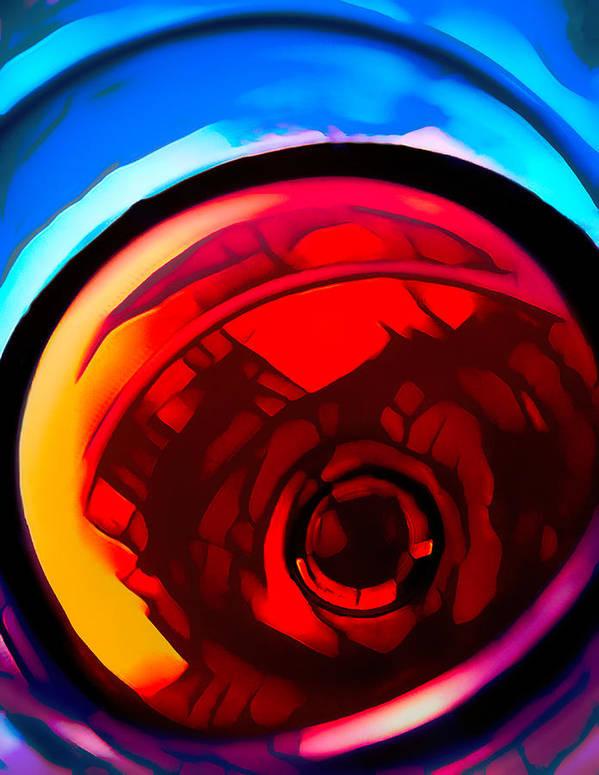 Glass of Red Wine - Stylized Art