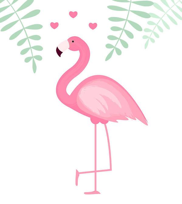 cute pink flamingo icon