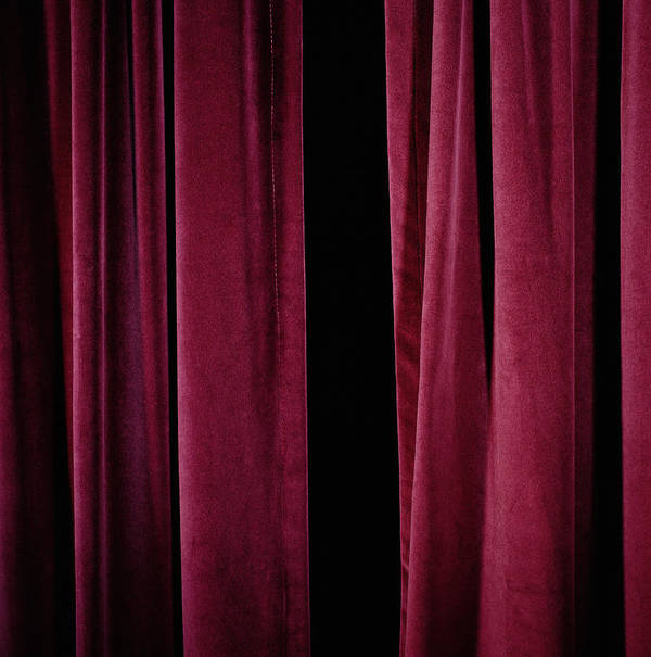 stage curtains close up
