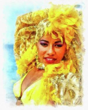 Aquerelle Art Print featuring the photograph Beauty In Yellow by Dawn Currie
