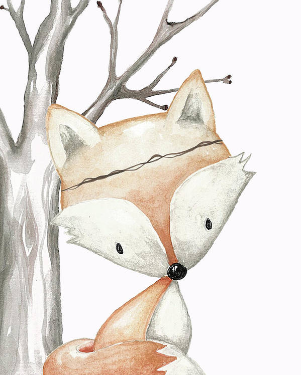 woodland fox boho baby