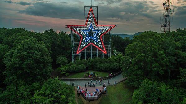 Mill Mountain Rwb Selfie Art Print by Star City SkyCams