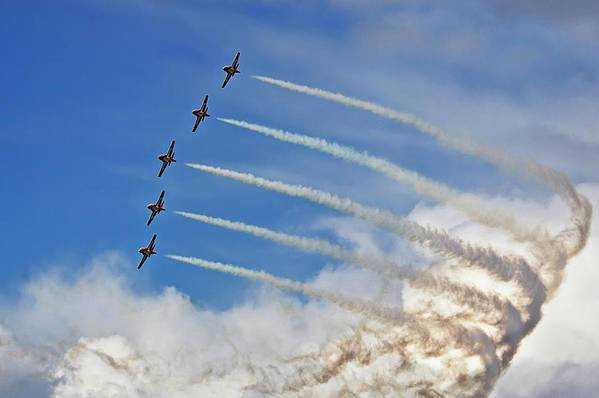 Snowbirds Art Print featuring the photograph Energy by Tatiana Travelways