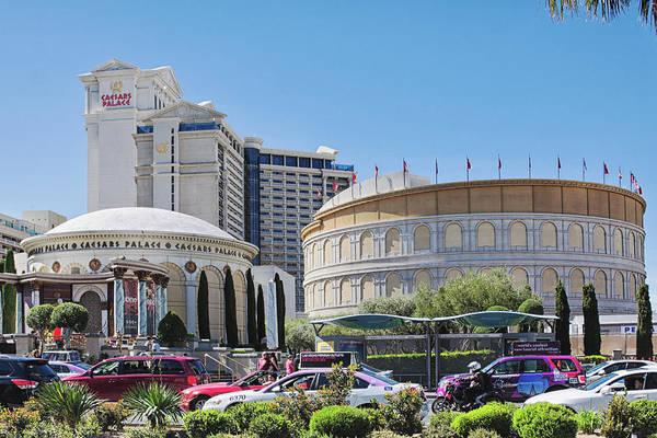 Caesars Palace Art Print featuring the photograph Caesars Palace, Las Vegas by Tatiana Travelways