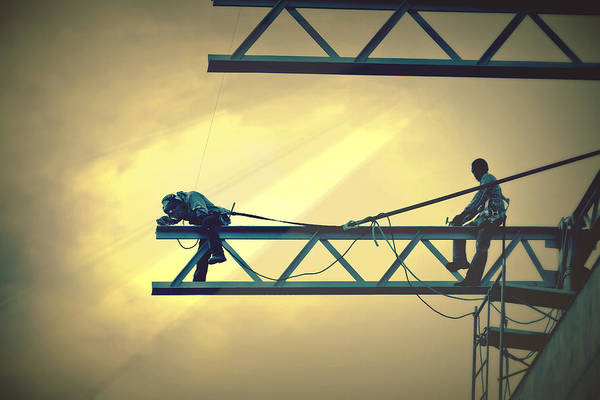 Panama Art Print featuring the photograph Fearless Sky Workers by Tatiana Travelways