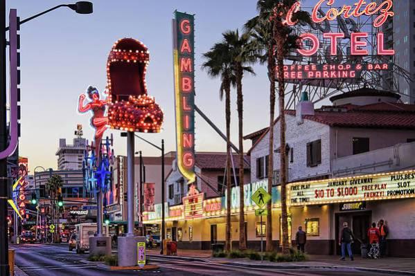 El Cortez hotel Las vegas and Fremont Street Neon Signs