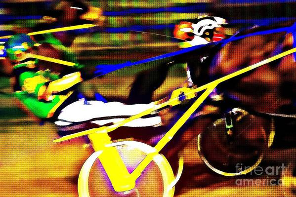 Harness Race Nova Scotia digital art by Tatiana Travelways