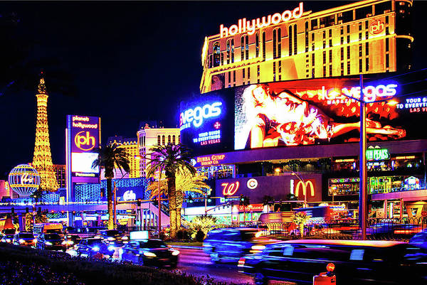 Las Vegas Strip Art Print featuring the photograph January Night Fever In Las Vegas by Tatiana Travelways