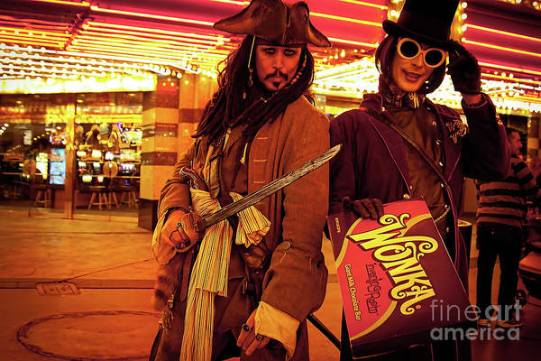 Las Vegas Art Print featuring the photograph Las Vegas Impersonators by Tatiana Travelways