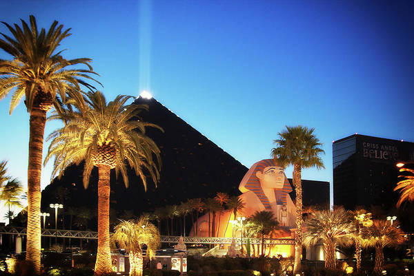 Luxor Pyramid Art Print featuring the photograph Luxor Pyramid And Sphinx Of Giza, Las Vegas by Tatiana Travelways