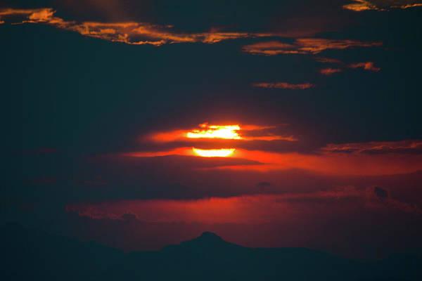 Red Dawn Above Southwest Texas Fine Art Print by Steven Green