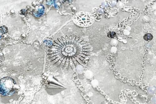 Silver jewelry still life