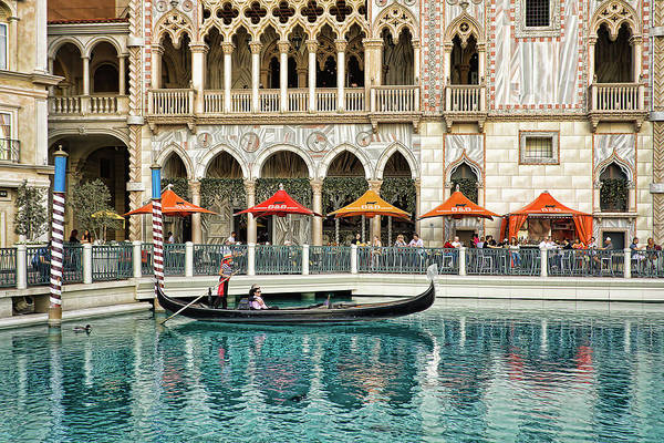 Gondola Art Print featuring the photograph Venetian Las Vegas by Tatiana Travelways