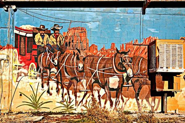 Western Mural Art Art Print featuring the photograph Wild West Mural by Tatiana Travelways