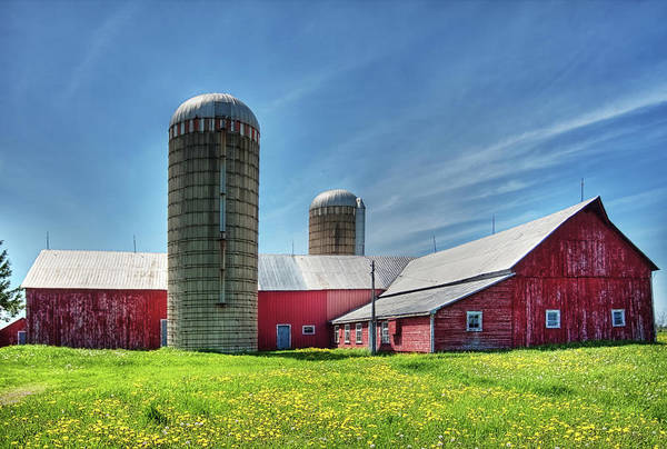 Barn Art Print featuring the photograph Red Barn In Ontario, Canada by Tatiana Travelways