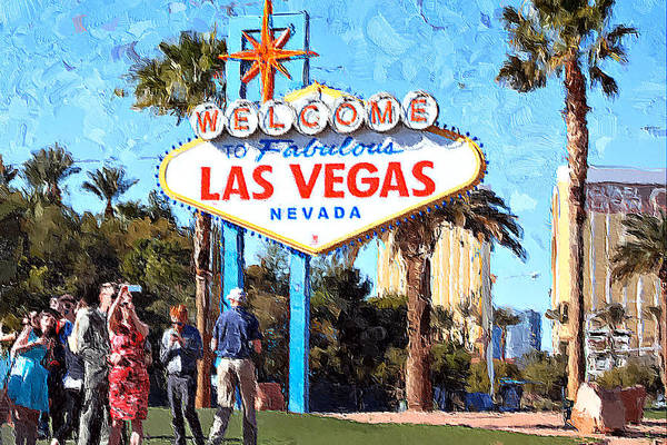 Las Vegas Art Print featuring the photograph Las Vegas Welcome Sign by Tatiana Travelways