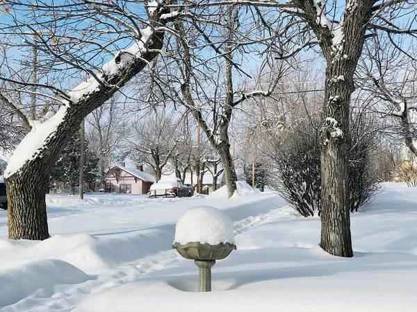 Winter Art Print featuring the photograph Winter Morning In Roundup, Montana by Tatiana Travelways
