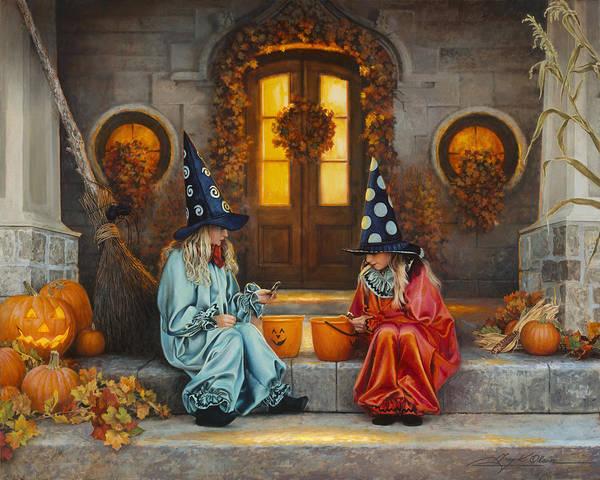 Fall Themed Wallpaper Halloween Sweetness Art Print By Greg Olsen