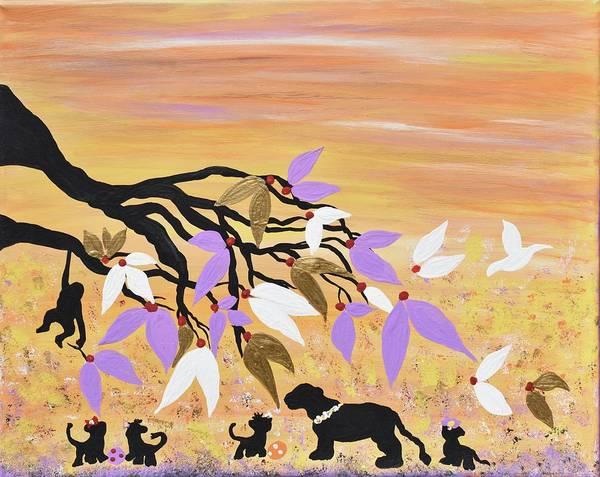 animals nursery painting cubs