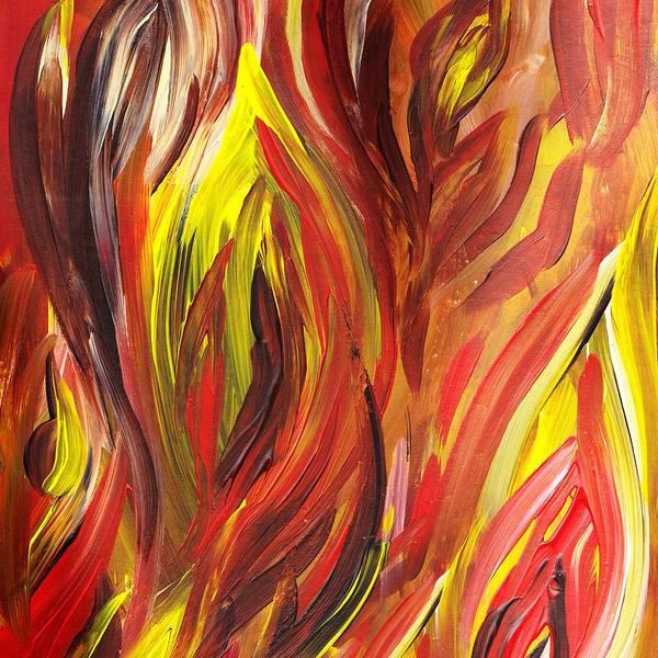 abstract flames art print