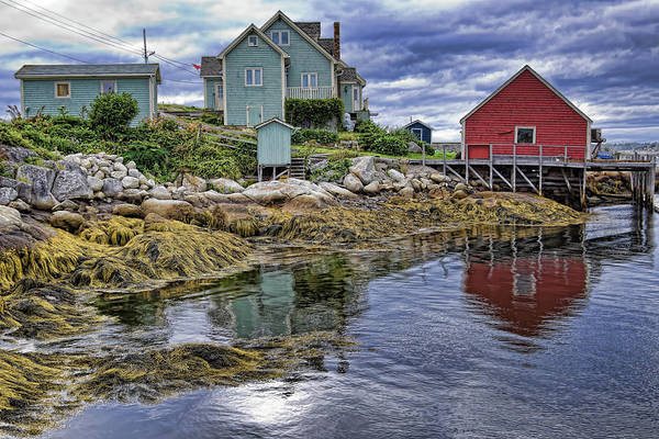 Low Tide Art Print featuring the photograph Low tide at Peggy's Cove by Tatiana Travelways