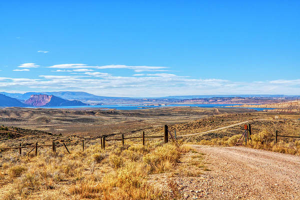 Country road at Flaming Gorge Reservoir