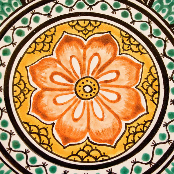 mexican tile detail art print