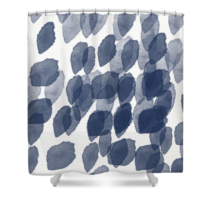 navy shower curtains pixels