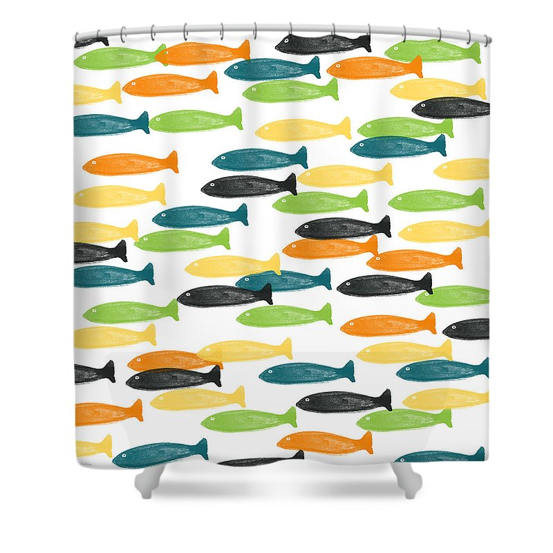 colorful fish shower curtain